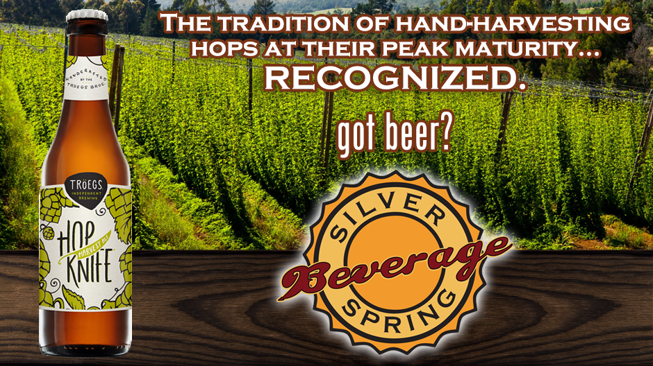 Troegs Hop Knife Now Available at Silver Spring Beverage!